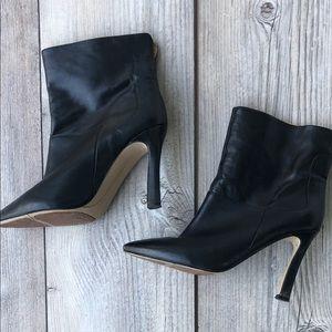 Nine West Black 4 inch Heel Booties